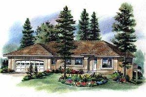Dream House Plan - Mediterranean Exterior - Front Elevation Plan #18-1009