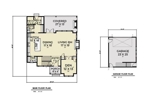 House Plan Design - Farmhouse Floor Plan - Main Floor Plan #1070-137