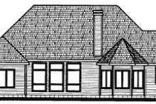 Home Plan - Traditional Exterior - Rear Elevation Plan #20-731