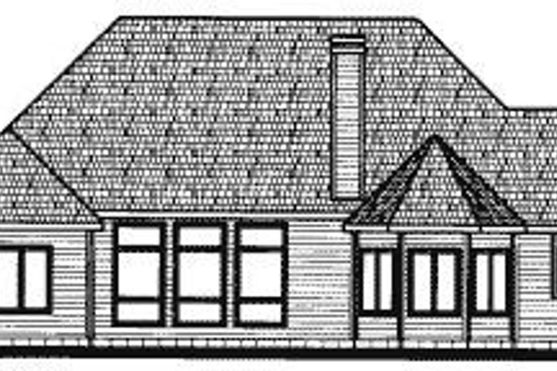 Traditional Exterior - Rear Elevation Plan #20-731 - Houseplans.com