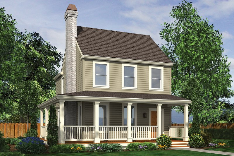 Architectural House Design - Colonial Exterior - Front Elevation Plan #48-976
