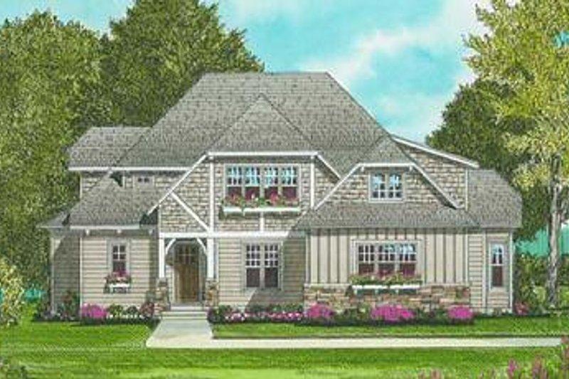 Tudor Exterior - Front Elevation Plan #413-140