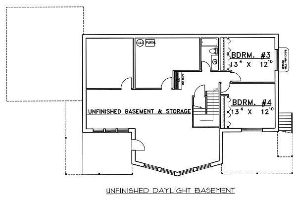 Contemporary Floor Plan - Lower Floor Plan Plan #117-519