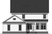 Traditional Style House Plan - 4 Beds 2.5 Baths 2570 Sq/Ft Plan #21-322 Exterior - Rear Elevation