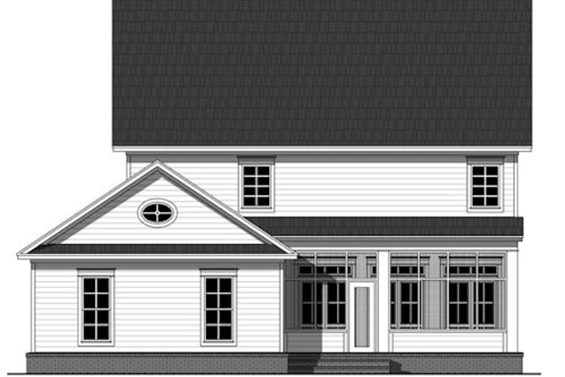 Traditional Exterior - Rear Elevation Plan #21-322 - Houseplans.com