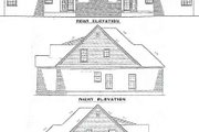 European Style House Plan - 3 Beds 2.5 Baths 3366 Sq/Ft Plan #17-2009 Exterior - Rear Elevation