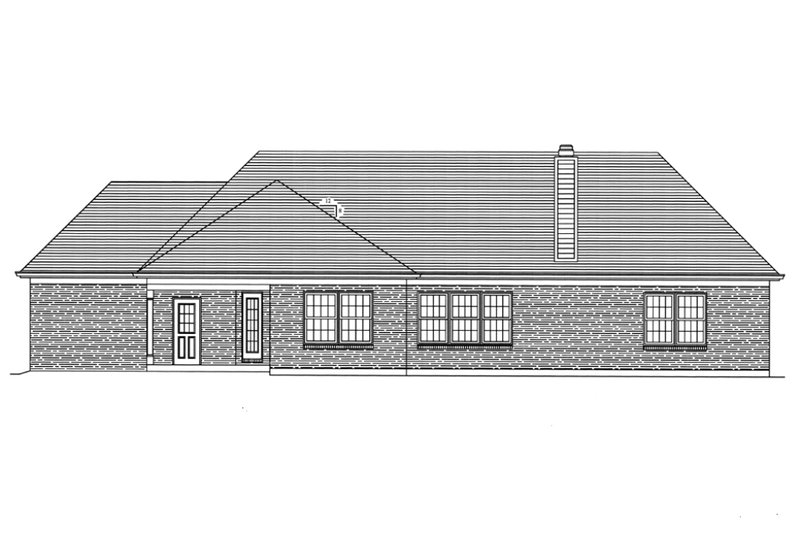 Traditional Exterior - Rear Elevation Plan #46-373 - Houseplans.com