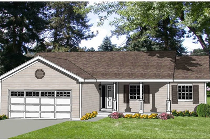 Traditional Style House Plan - 3 Beds 2 Baths 1248 Sq/Ft Plan #116-250 Exterior - Front Elevation