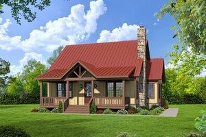 Cabin Exterior - Front Elevation Plan #932-48