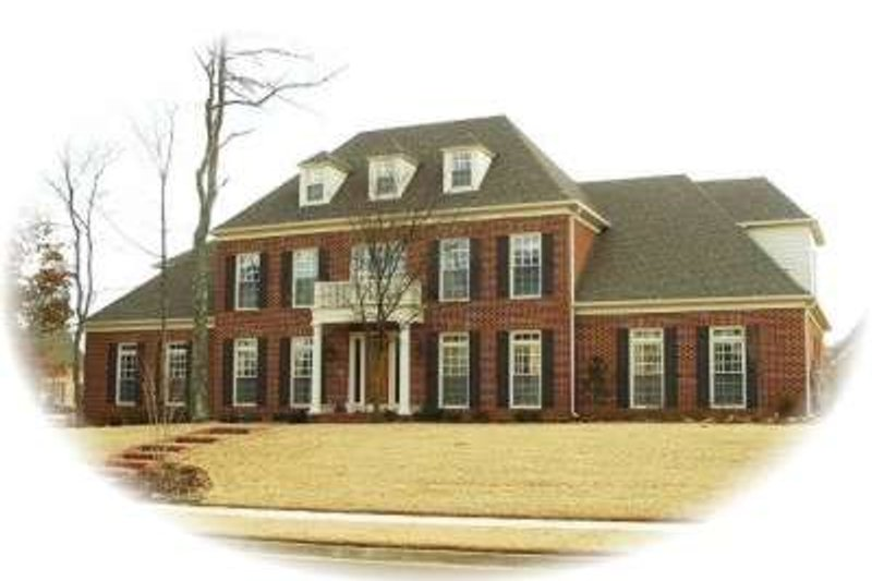 Colonial Style House Plan - 4 Beds 4 Baths 4574 Sq/Ft Plan #81-1652 Exterior - Front Elevation