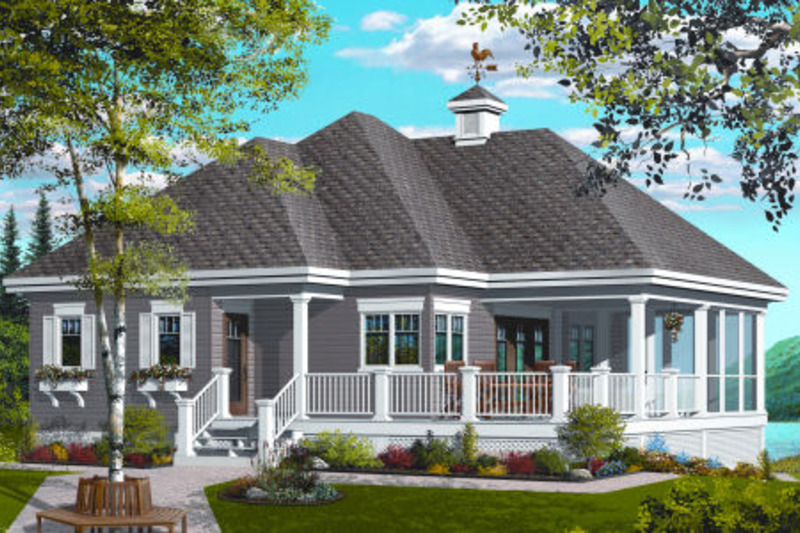 Farmhouse Exterior - Front Elevation Plan #23-2270 - Houseplans.com