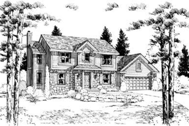 Traditional Exterior - Front Elevation Plan #20-826 - Houseplans.com