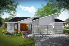 Dream House Plan - Contemporary Exterior - Front Elevation Plan #70-1490