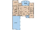 European Style House Plan - 4 Beds 3.5 Baths 4035 Sq/Ft Plan #923-3 Floor Plan - Main Floor Plan