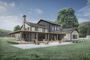 Modern Style House Plan - 3 Beds 2.5 Baths 2754 Sq/Ft Plan #924-6 Exterior - Rear Elevation