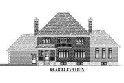 European Style House Plan - 4 Beds 2.5 Baths 3269 Sq/Ft Plan #138-339 Exterior - Rear Elevation