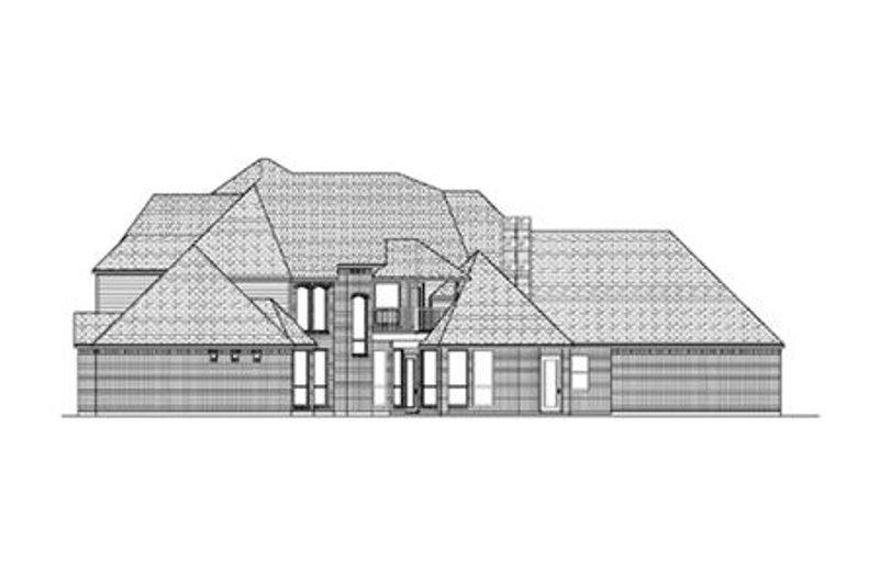 European Exterior - Rear Elevation Plan #84-429 - Houseplans.com