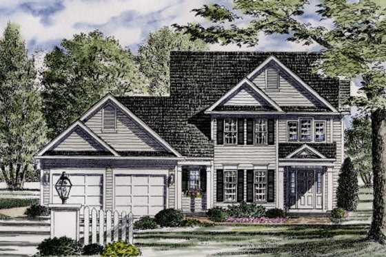 Colonial Exterior - Front Elevation Plan #316-121