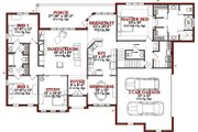 Traditional Style House Plan - 4 Beds 3.5 Baths 2511 Sq/Ft Plan #63-327 Floor Plan - Main Floor Plan