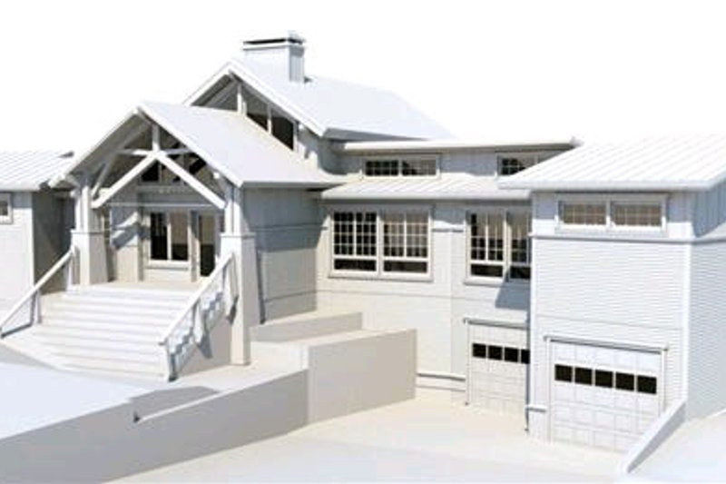 Craftsman Style House Plan - 4 Beds 3.5 Baths 2988 Sq/Ft Plan #451-10 Exterior - Front Elevation