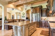 Mediterranean Style House Plan - 4 Beds 4.5 Baths 3474 Sq/Ft Plan #930-276 Interior - Kitchen
