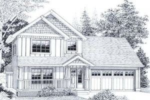 Traditional Exterior - Front Elevation Plan #53-168