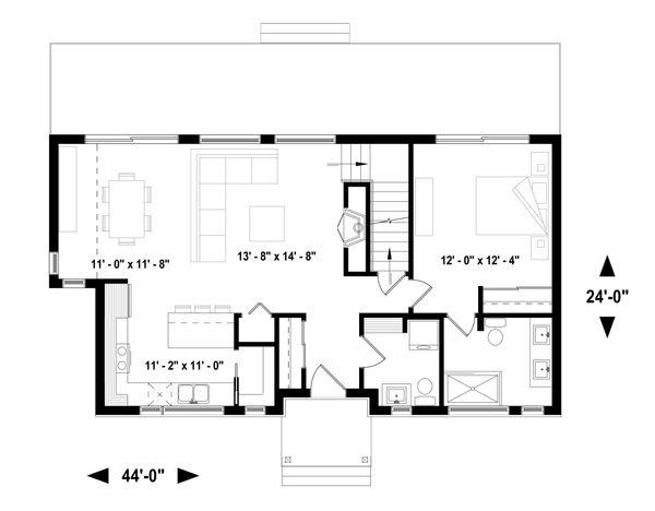 House Plan Design - Cottage Floor Plan - Main Floor Plan #23-2313