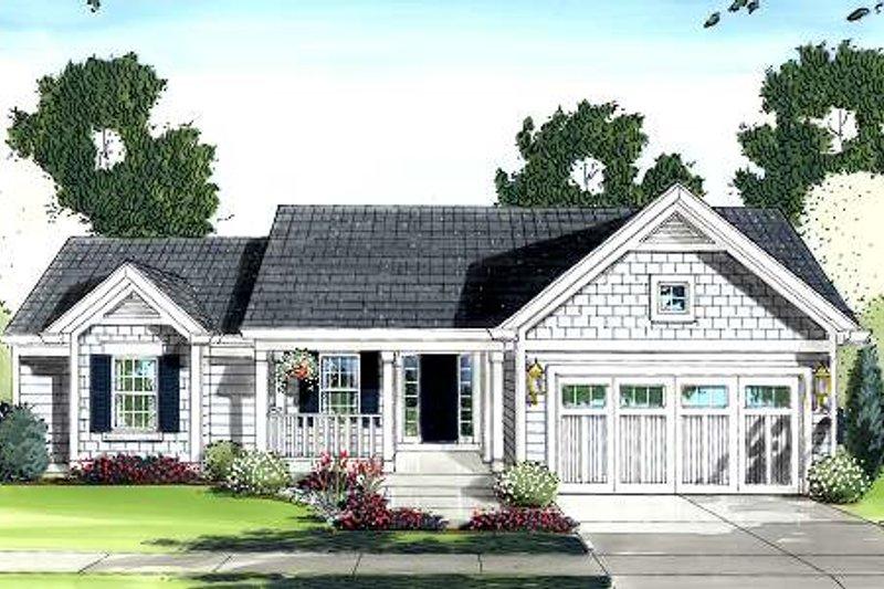 Cottage Exterior - Front Elevation Plan #46-410