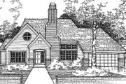Traditional Style House Plan - 2 Beds 2 Baths 1889 Sq/Ft Plan #320-375 Exterior - Front Elevation