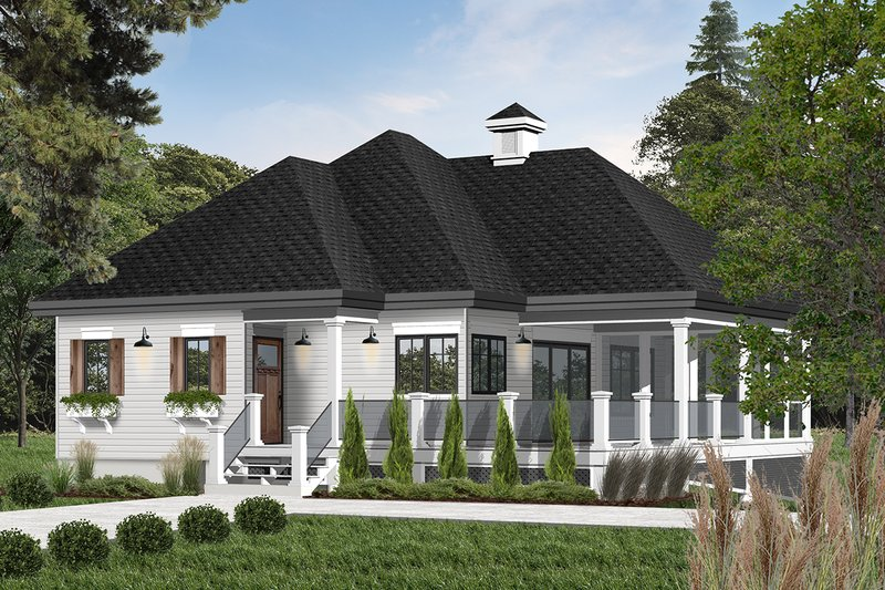 Farmhouse Style House Plan - 1 Beds 1 Baths 1070 Sq/Ft Plan #23-2270 Exterior - Front Elevation
