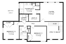 Traditional Floor Plan - Upper Floor Plan Plan #1060-37