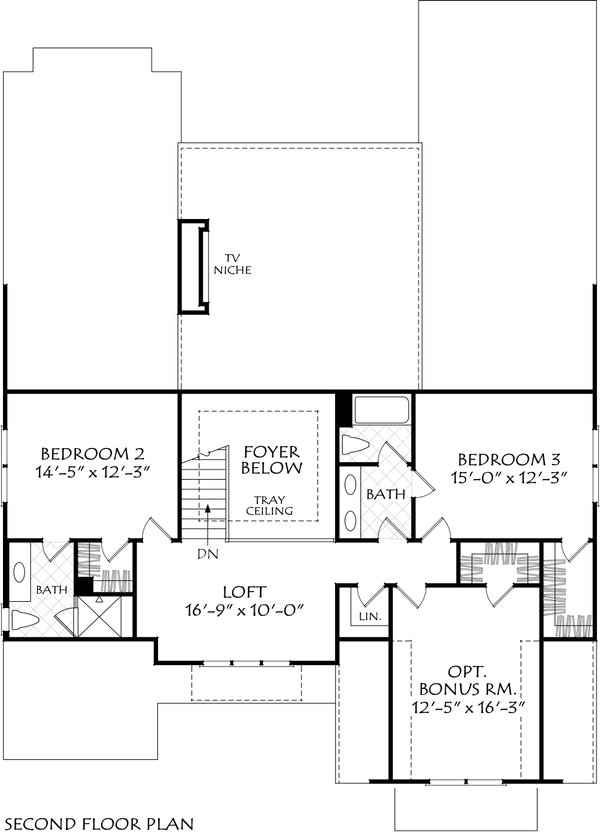 Dream House Plan - Farmhouse Floor Plan - Upper Floor Plan #927-1026