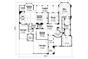 Mediterranean Style House Plan - 4 Beds 5 Baths 5203 Sq/Ft Plan #20-1732 Floor Plan - Main Floor