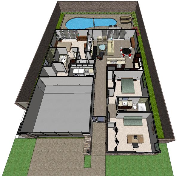 Architectural House Design - Ranch Floor Plan - Other Floor Plan #489-2
