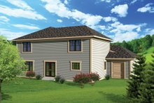 Ranch Exterior - Rear Elevation Plan #70-1099