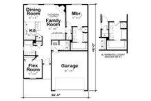 European Floor Plan - Main Floor Plan Plan #20-2081