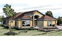 Mediterranean Exterior - Front Elevation Plan #124-228