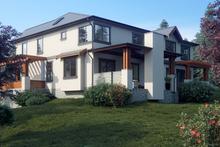 House Plan Design - Contemporary Exterior - Rear Elevation Plan #1066-36