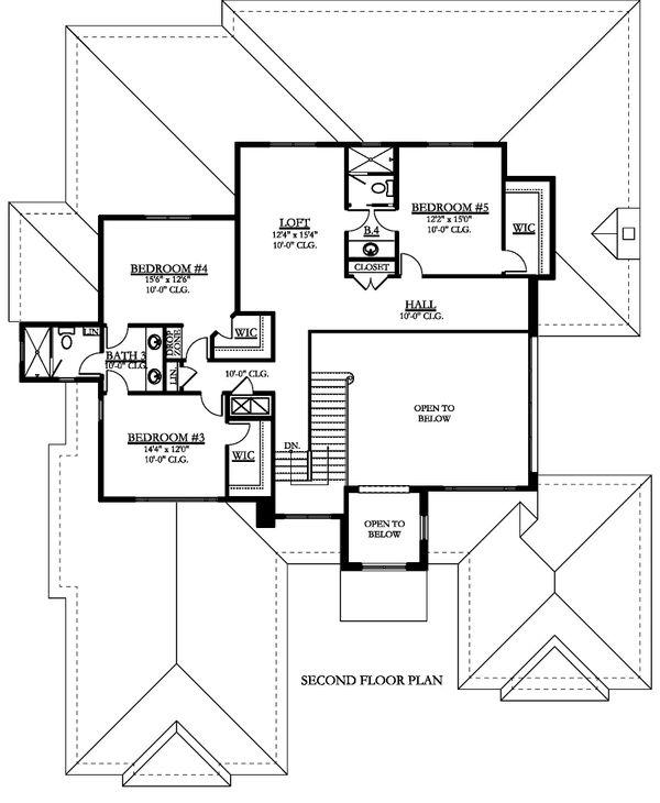 Contemporary Floor Plan - Upper Floor Plan #1058-181