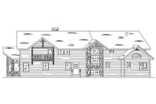 Home Plan - Traditional Exterior - Rear Elevation Plan #5-393