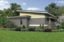 Dream House Plan - Contemporary Exterior - Rear Elevation Plan #48-1006