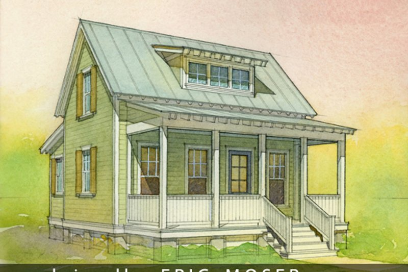 Cottage Style House Plan - 2 Beds 1 Baths 697 Sq/Ft Plan #514-10