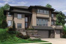 Modern Exterior - Front Elevation Plan #48-613