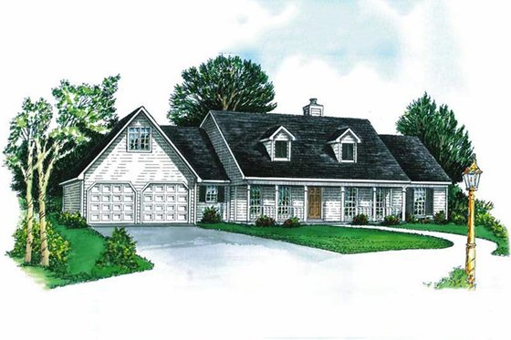 Country Exterior - Front Elevation Plan #16-118