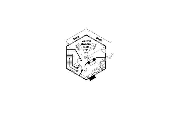 Craftsman Floor Plan - Upper Floor Plan Plan #124-1206