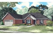 Southern Style House Plan - 3 Beds 2 Baths 2146 Sq/Ft Plan #17-2360 Exterior - Front Elevation