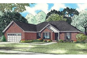 Southern Exterior - Front Elevation Plan #17-2360