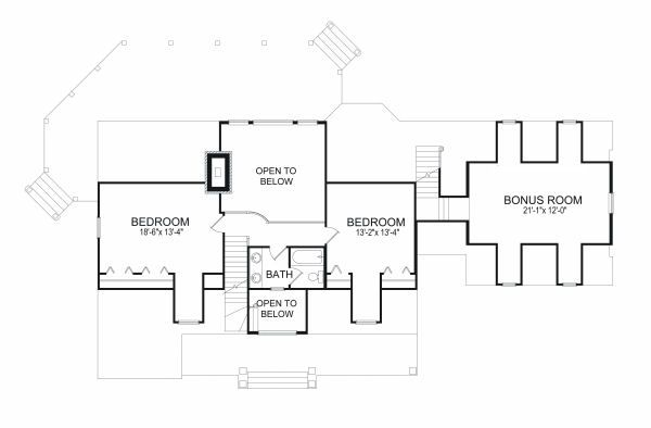 European Floor Plan - Upper Floor Plan Plan #417-277