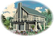 Contemporary Style House Plan - 2 Beds 1 Baths 868 Sq/Ft Plan #81-13766 Exterior - Front Elevation