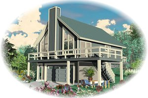 Contemporary Exterior - Front Elevation Plan #81-13766